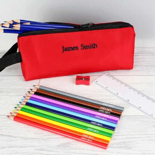 Red Pencil Case & Personalised Content